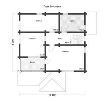 изображение проекта дома Проект дома из клееного бруса Грибово