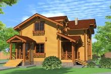 изображение проекта дома Проект дома из клееного бруса Хаустово