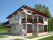 изображение проекта дома Проект дома из клееного бруса Хайтек