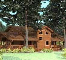 изображение проекта дома Проект дома из клееного бруса Иртыш