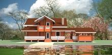 изображение проекта дома Проект дома из клееного бруса Калязино