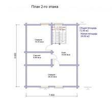изображение проекта дома Проект дома из клееного бруса Карелия