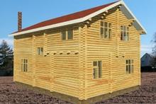 изображение проекта дома Проект дома из клееного бруса Казань