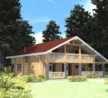 изображение проекта дома Проект дома из клееного бруса Киржач 2