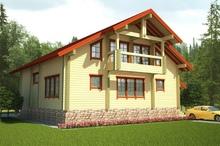 изображение проекта дома Проект дома из клееного бруса Киржач