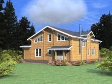 изображение проекта дома Проект дома из клееного бруса Княжий бор