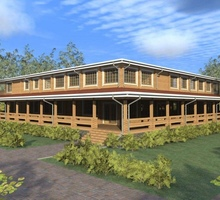 изображение проекта дома Проект конференц зала из клееного бруса
