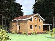 изображение проекта дома Проект дома из клееного бруса Красный