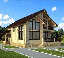изображение проекта дома Проект дома из клееного бруса Курск