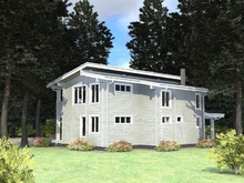 изображение проекта дома Проект дома из клееного бруса Лесная пристань