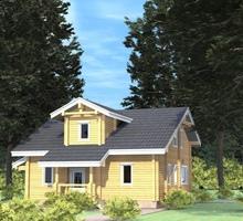 изображение проекта дома Проект дома из клееного бруса Лесная Сказка