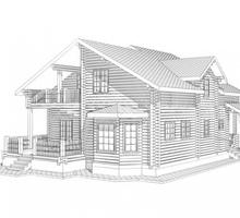 изображение проекта дома Проект дома из клееного бруса Лопотово