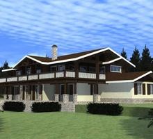 изображение проекта дома Проект дома из клееного бруса Лучны