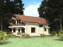 изображение проекта дома Проект дома из клееного бруса Львовские озера