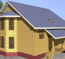 изображение проекта дома Проект дома из клееного бруса Миронцево
