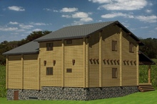 изображение проекта дома Проект дома из клееного бруса Нахабино