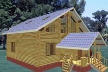 изображение проекта дома Проект дома из клееного бруса Никулино