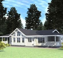 изображение проекта дома Проект дома из клееного бруса Новорижский