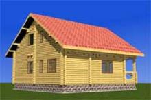 изображение проекта дома Проект дома из клееного бруса Оптима