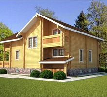 изображение проекта дома Проект дома из клееного бруса Осташково-2