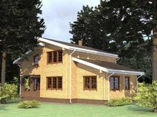 изображение проекта дома Проект дома из клееного бруса Пестово