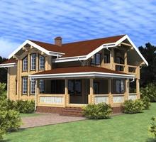 изображение проекта дома Проект дома из клееного бруса Сазонки