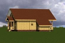 изображение проекта дома Проект дома из клееного бруса Скандинавия – 308