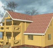 изображение проекта дома Проект дома из клееного бруса Щепково