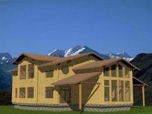 изображение проекта дома Проект дома из клееного бруса Серпухов