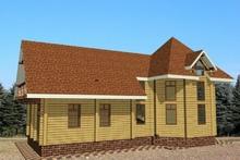 изображение проекта дома Проект дома из клееного бруса Шишкин лес-2