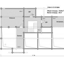 изображение проекта дома Проект дома из клееного бруса Солодово-2