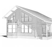 изображение проекта дома Проект дома из клееного бруса Сосны