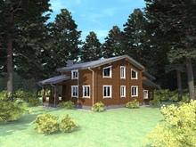 изображение проекта дома Проект дома из клееного бруса Солнечный город