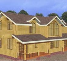 изображение проекта дома Проект дома из клееного бруса Суоми