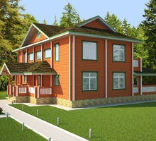 изображение проекта дома Проект дома из клееного бруса Тифани