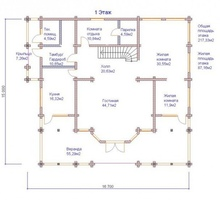 изображение проекта дома Проект дома из клееного бруса Веледниково