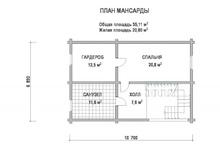 изображение проекта дома Проект дома из клееного бруса ВИМ