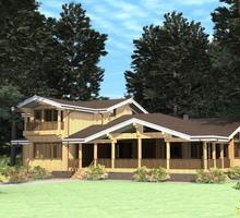 изображение проекта дома Проект дома из клееного бруса Якшино