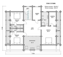 изображение проекта дома Проект дома из клееного бруса Южные озёра