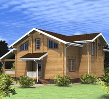 изображение проекта дома Проект дома из клееного бруса Звезда 2