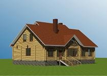 изображение проекта дома из клееного бруса Александровка