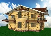 изображение проекта дома из клееного бруса Бакеево