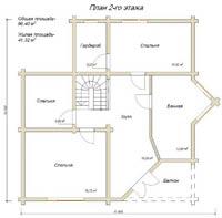 изображение проекта дома из клееного бруса Барское - 2