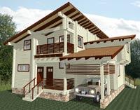 изображение проекта дома из клееного бруса Хайтэк