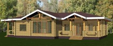 изображение проекта дома из клееного бруса Костино