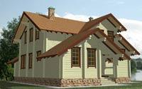изображение проекта дома из клееного бруса Сбаро