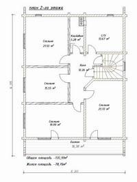 изображение проекта дома из клееного бруса Славянка