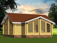 изображение проекта дома из клееного бруса Славенка