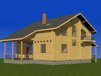 изображение проекта дома из клееного бруса Сосны