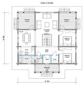 изображение проекта дома из клееного бруса Грэмми